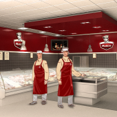 Meat stall design